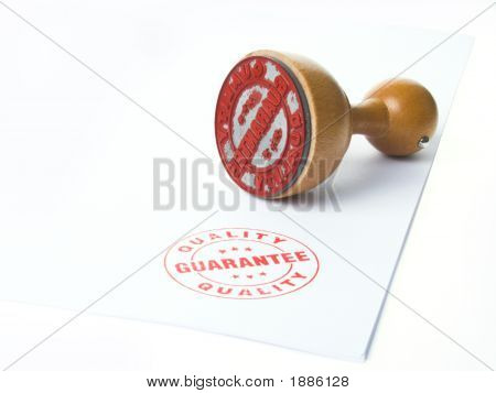 Quarantee Rubber Ink Stamp