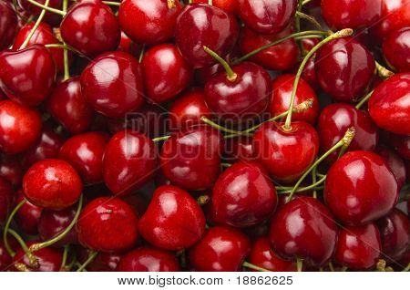 Wonderful red cherries