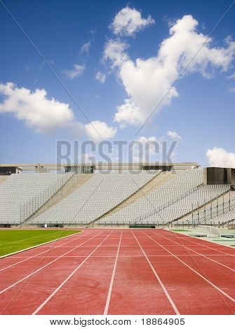 Running Tracks And The Empty Stadium