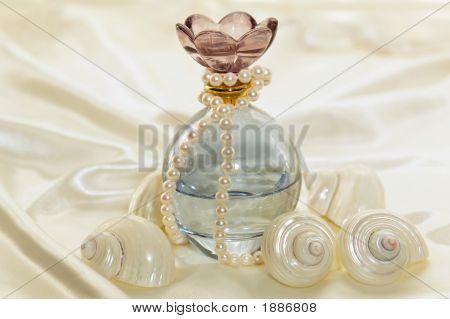 Perfume Bottle With Shells