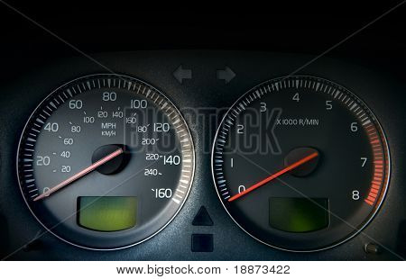 Car control panel. (speedometer tachometer)