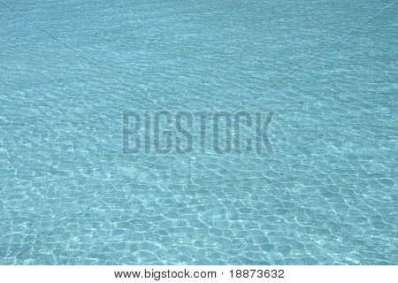 Ripples on the surface of the ocean