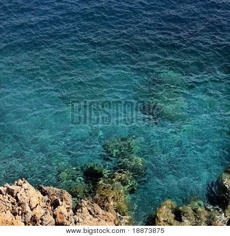 view of the ocean from a cliff