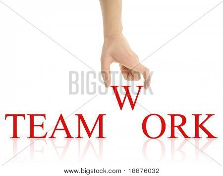 teamwork abstract with clipping paths