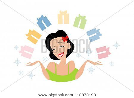 vector image for xmas sales