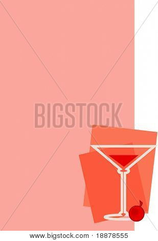 vector drink background. may be use like mackground for menu in restaurant