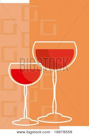 vector image of red wine