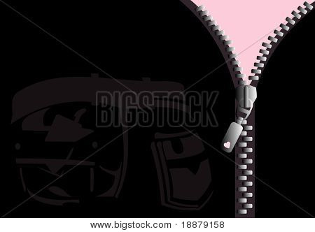 vector image of zipper. good use like background