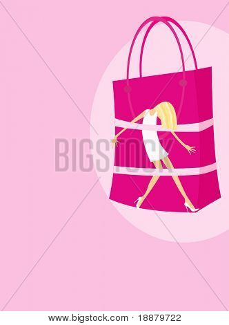vector image of shooping dependence conception
