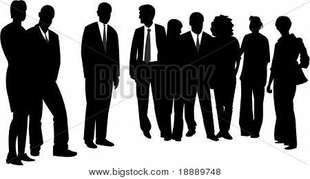 vector image of people group