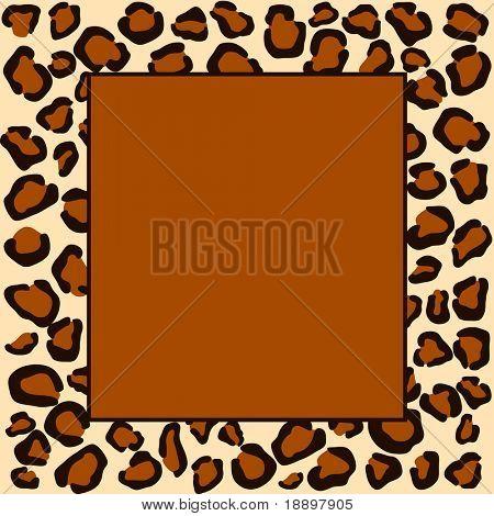 Animal cheetah print frame