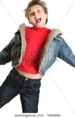 Exuberant Child Jumping