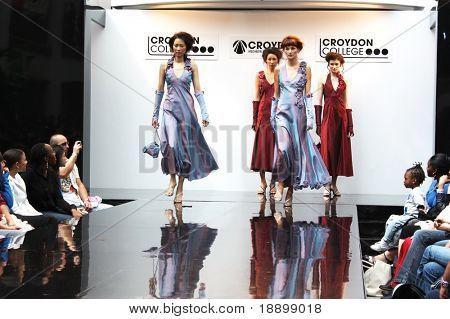 CROYDON, LONDON - JUNE 18 : Models in Fashion Festival on June 18, 2008 in Whitgift Shopping Centre, Croydon, England.