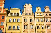 Historic tenements in Wroclaw Poland poster