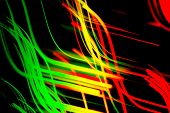 picture of traffic light  - Colorful abstract lines - JPG