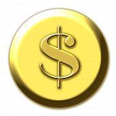 Постер, плакат: Золотой доллар simbol