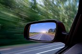 picture of car-window  - Car view from the window - JPG
