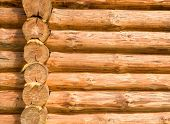 pic of log cabin  - Wall from logs - JPG