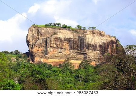 Famous landmark Sigiriya Rock Lion