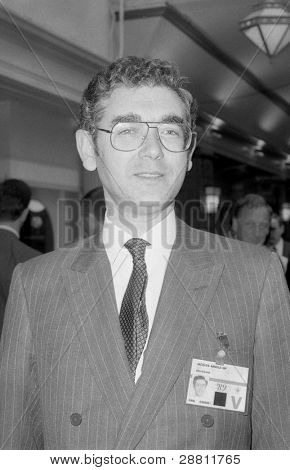 BLACKPOOL, ENGLAND - OCTOBER 10: Jacques Arnold, Conservative party Member of Parliament for Gravesham, attends the party conference on October 10, 1989 in Blackpool, Lancashire.