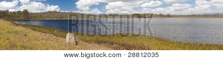 wetlands billabong Australian swamp lake Queensland Australia panorama landscape wilderness hike tourism destination