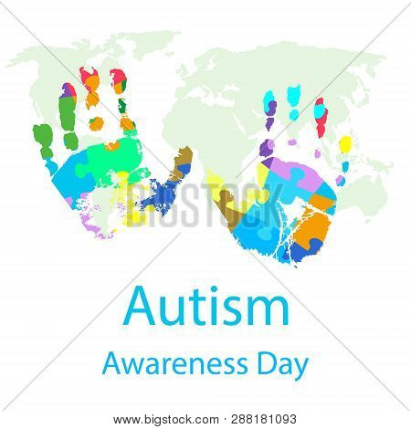 Vector Illustration Of World Autism