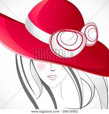 illustration of lady in line art style with stylish heart