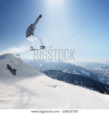Springen snowboard