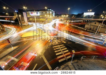 Intersection at night
