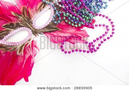 Carnivale decor on isolated white