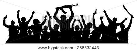 Crowd Of Military People With
