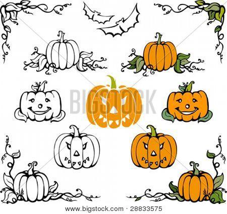 conjunto calabaza de halloween