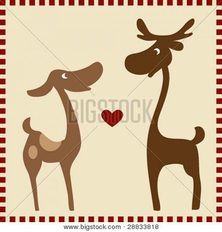reindeer couple