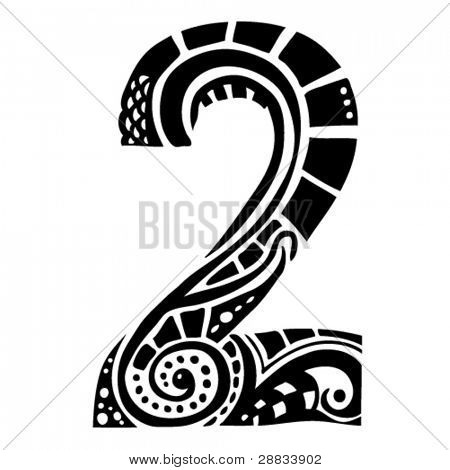 number ornament - 2 -