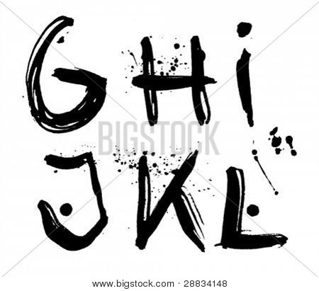 stroke alphabet g-l