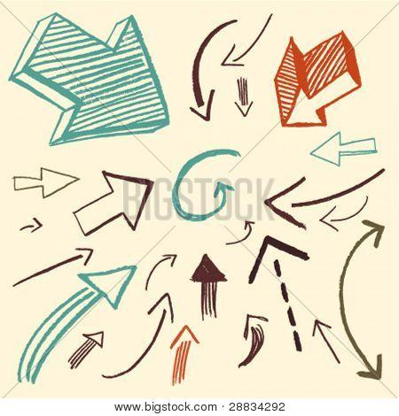 doodle set - arrows