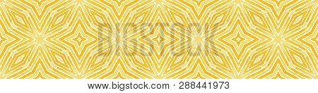 Orange Seamless Border Scroll Geometric