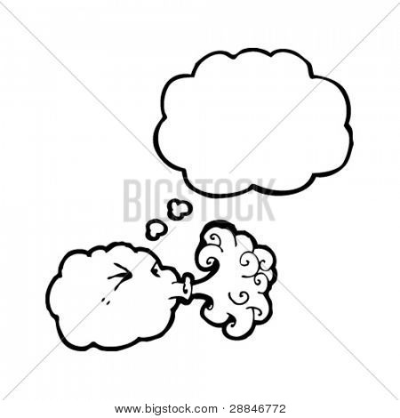 cloud blowing gale cartoon