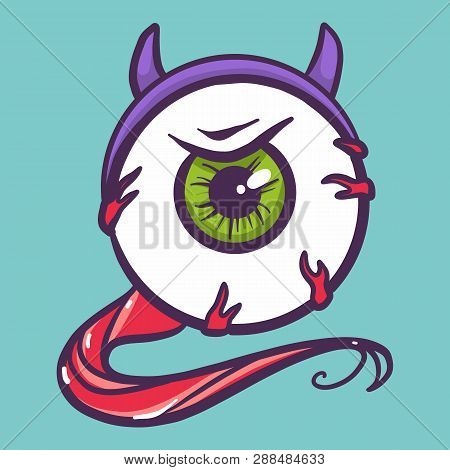 Devil Eyeball Icon Hand Drawn