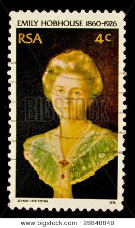UNITED STATES - CIRCA 1976: A stamp printed by United states, shows Emily Hobhouse - British welfare campaigner, circa 1976