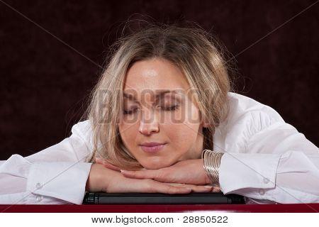 The image of sleeping secretary