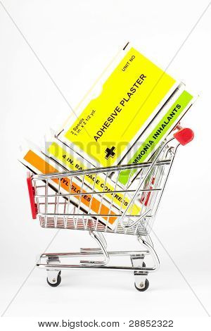 Shopping Cart With First Aid Kit