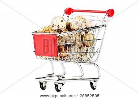 Shopping Cart With Quail Eggs