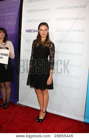 LOS ANGELES - JAN 6:  Michaela McManus arrives at the NBC Universal All-Star Winter TCA Party at The Athenauem on January 6, 2012 in Pasadena, CA