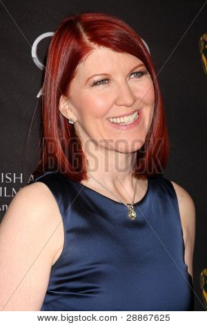 LOS ANGELES - JAN 14:  Kate Flannery arrives at  the BAFTA Award Season Tea Party 2012 at Four Seaons Hotel on January 14, 2012 in Beverly Hills, CA
