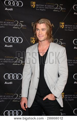 LOS ANGELES - JAN 14:  Chris Hemsworth arrives at  the BAFTA Award Season Tea Party 2012 at Four Seaons Hotel on January 14, 2012 in Beverly Hills, CA