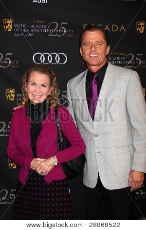 LOS ANGELES - JAN 14:  Juliet Mills, Maxwell Caufield arrives at  the BAFTA Award Season Tea Party 2012 at Four Seaons Hotel on January 14, 2012 in Beverly Hills, CA