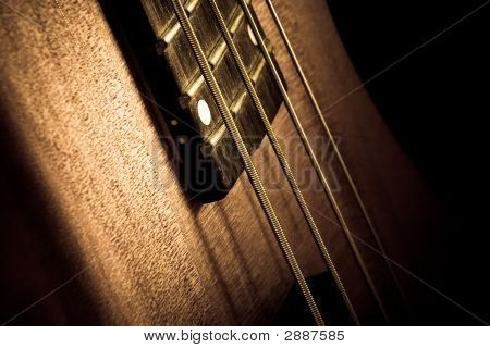 Bass String Closeup