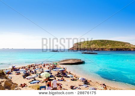 Ibiza cala Conta Conmte in San Antonio with isla del bosque