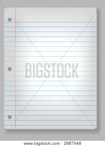 Spotlight Notebook Paper Background